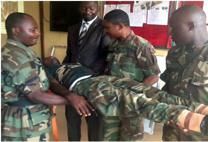 Basic Management of Casualty Before Arriving Hospital Given to the Nigerian Army Zuma Barracks