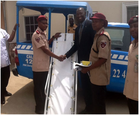 Donation of Ambulance Stretcher to Federal Road Safety Corps, Suleja Command